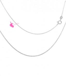 Collana Palline Diamantata 1,2 mm Lunghezza 45 cm Argento 925 Rodiato