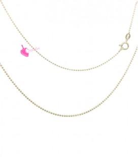 Collana Palline Diamantata 1,2 mm Lunghezza 45 cm Argento 925 Oro