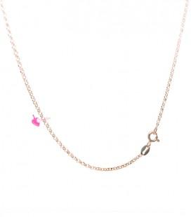 Collana Rollò 1,7 mm Lunghezza 90 cm Argento 925 Oro Rosa