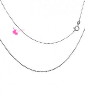 Collana Palline Diamantata 1,2 mm Lunghezza 45 cm Argento 925 Canna Di Fucile