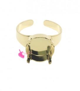 Base Anello con Castone per Rivoli 1122 12 mm colore Oro