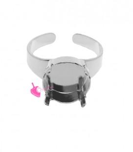 Base Anello con Castone per Rivoli 1122 12 mm colore Acciaio