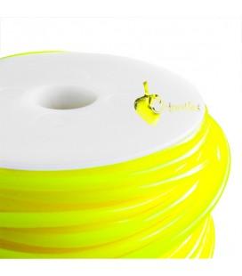 Cordoncino PVC Giallo Fluo 4 mm Forato (1 metro)