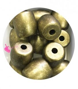 Perla Cilindro Resina 24x23 mm Metallizzata Oro