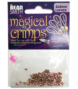 Magical Crimps Beadsmith® Schiaccini Tubolari 2 mm Rame-Oro Rosa