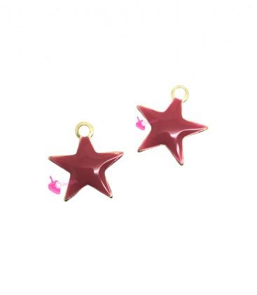 Ciondolo Stella Smaltata 10 mm colore Rosso