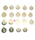 Ciondolo Lettera Alfabeto 12x10 mm Acciaio Inox colore Oro