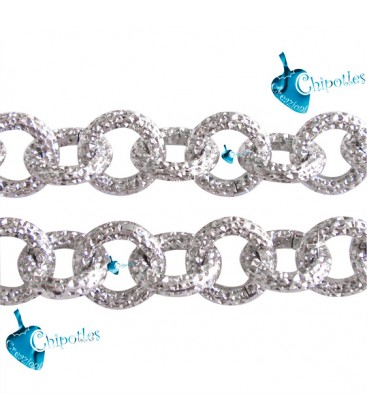Catena Zigrinata Stardust 10x10x2 mm Alluminio color Nichel