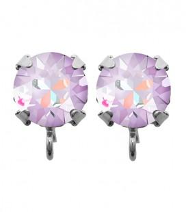 Base Orecchini a Perno con Chaton Swarovski Crystal Lavender Delite SS39 8 mm