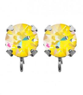 Base Orecchini a Perno con Chaton Swarovski Crystal Sunshine Delite SS39 8 mm