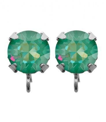 Base Orecchini a Perno con Chaton Swarovski Crystal Silky Sage Delite SS39 8 mm