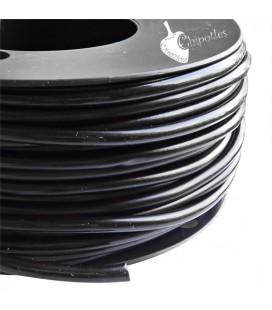 Cordoncino PVC 4 mm Forato colore Nero (1 metro)