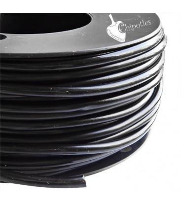 Cordoncino PVC 4 mm Forato colore Nero