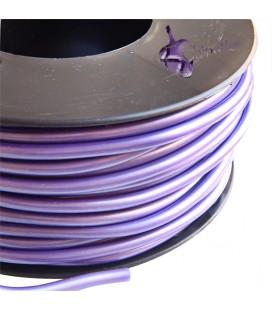 Cordoncino PVC 4 mm Forato colore Viola Metallizzato (1 metro)
