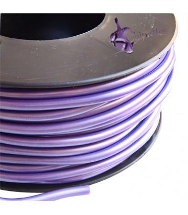 Cordoncino PVC 4 mm Forato colore Viola Metallizzato