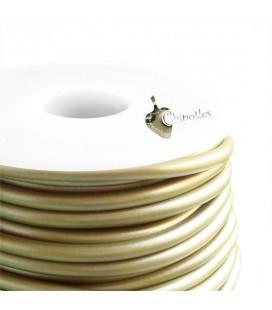 Cordoncino PVC 4 mm Forato colore Verde Militare Metallizzato (1 metro)