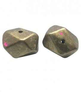 Perla Sfaccettata Resina 18x24 mm Metallizzata Oro