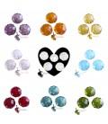 Perle Rondelle Miste 10 mm Mezzo Cristallo (460 pezzi)