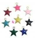 Ciondoli Stella Smaltata 10 mm colori Misti (5 pezzi)