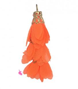 Nappina a Fiore 40 mm colore Arancione (3 pezzi uniti da un anellino)