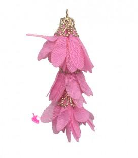 Nappina a Fiore 40 mm colore Rosa (3 pezzi uniti da un anellino)