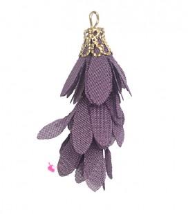 Nappina a Fiore 40 mm colore Viola (3 pezzi uniti da un anellino)