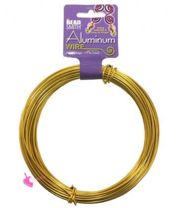 Filo Alluminio Beadsmith® 12 gauge 2 mm Oro (12 metri)