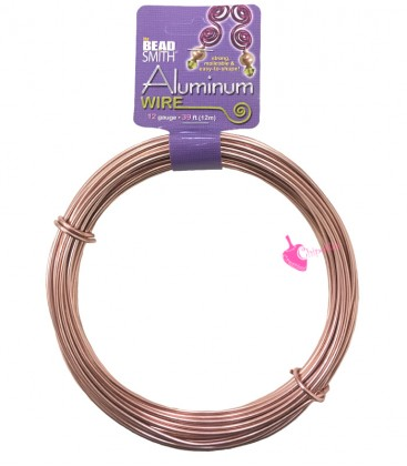 Filo Alluminio Beadsmith® 12 gauge 2 mm Oro Rosa (12 metri)