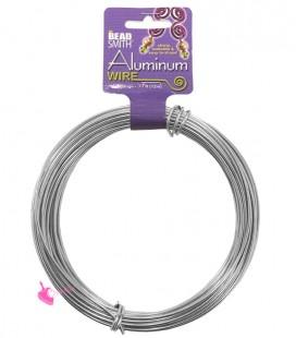 Filo Alluminio Beadsmith® 12 gauge 2 mm Argento (12 metri)
