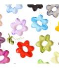 Perle Miste Fiore 6 Petali 26x29x4 mm (5 pezzi)