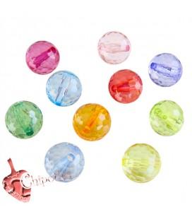 Perle Tonde Miste 12 mm Acrilico (10 pezzi)