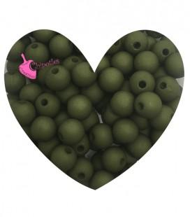 Perle Acrilico Opache 6 mm Green Olive (100 pezzi)