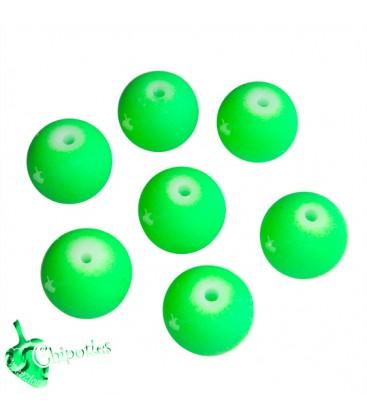 Perle Verde Fluo 10 mm Acrilico