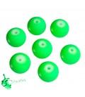 Perle Verde Fluo 10 mm Acrilico (20 pezzi)