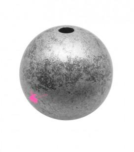 Perla 25 mm Resina Acciaio e Argento Metallizzato