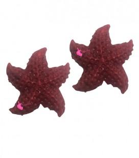 Perla Stella Marina Resina 24x23 mm colore Rosso