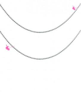 Catena Palline Diamantata 1,2 mm Grigio e Oro