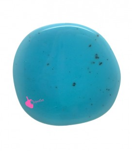 Perla Piatta Grande Resina 59x62 mm Turchese