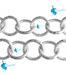 Catena Zigrinata 23x23x3 mm Alluminio vari colori (1 metro)