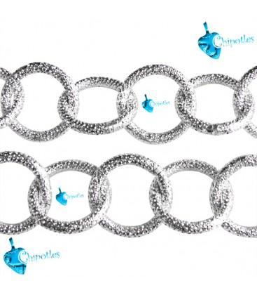Catena Zigrinata Stardust 22x22x3 mm Alluminio color Nichel