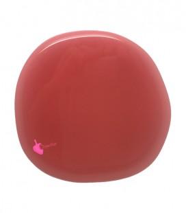 Perla Piatta Grande Resina 59x62 mm Rosso Corallo