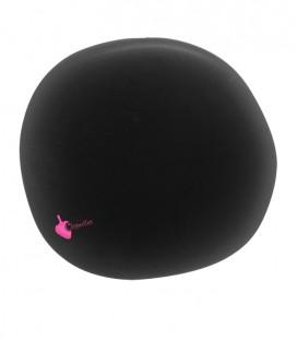 Perla Piatta Grande Resina 59x62 mm Nero Satinato