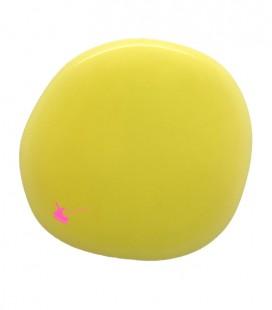 Perla Piatta Grande Resina 59x62 mm Giallo