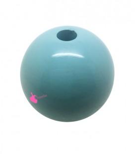 Perla Tonda Resina 30 mm (foro 5,5 mm) color Cielo
