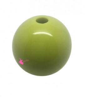 Perla Tonda Resina 30 mm (foro 5,5 mm) Pistacchio