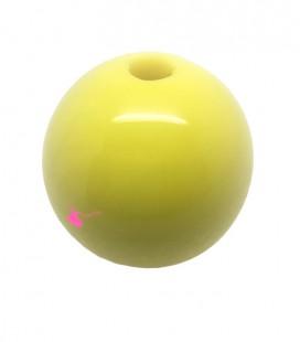 Perla Tonda Resina 30 mm (foro 5,5 mm) Giallo Limone