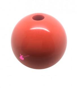 Perla Tonda Resina 30 mm (foro 5,5 mm) Arancio