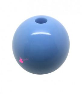 Perla Tonda Resina 30 mm (foro 5,5 mm) Azzurro