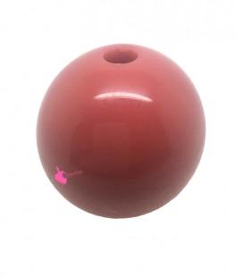 Perla Tonda Resina 30 mm (foro 5,5 mm) Corallo