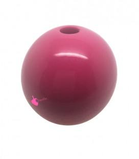 Perla Tonda Resina 25 mm (foro 5,5 mm) Rosa